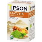 Tipson: Matcha Cinnamon & Ginger BIO 25x1,5g