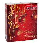 AKBAR Christmas černý, zelený čaj 25x2g+25x1,5g