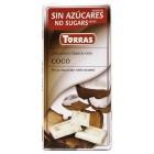 Bílá čokoláda s kokosem bez cukru 75g