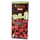 Tmavá čokoláda Stevia s lesním ovocem bezlepková 125g
