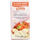 Torras: Čokoláda bílá s jahodami bez cukru 75g