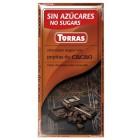Tmavá čokoláda s kakaovými boby bez cukru 75g