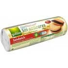 Gullón: Sušenky plněné čokoládou bez cukru 250g