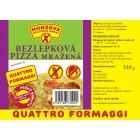 PIZZA Quattro formaggi bezlepková 310g