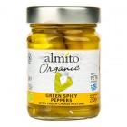 Papriky zelené pikantní plněné sýrem BIO 230g